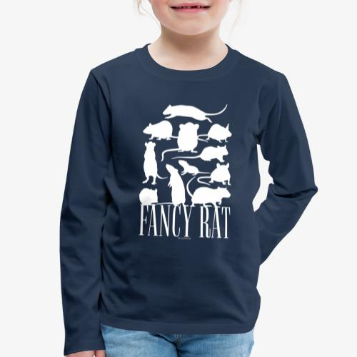 Fancy Rat - Lasten premium pitkähihainen t-paita