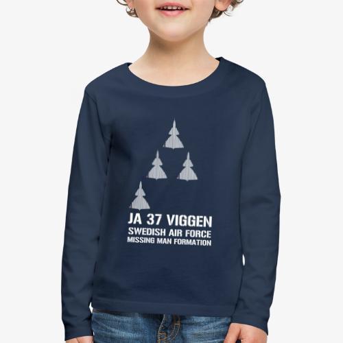 JA 37 Viggen - Missing Man Formation - Långärmad premium-T-shirt barn