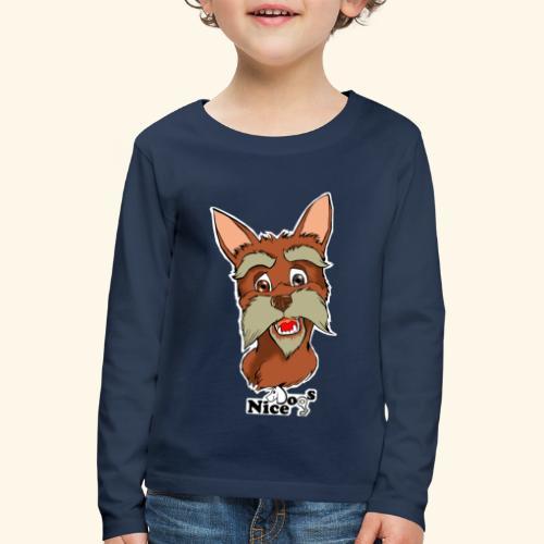 Nice Dogs schnauzer - Maglietta Premium a manica lunga per bambini