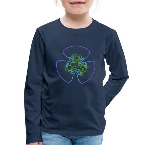 Drei Bäume, blau-grün - Kinder Premium Langarmshirt
