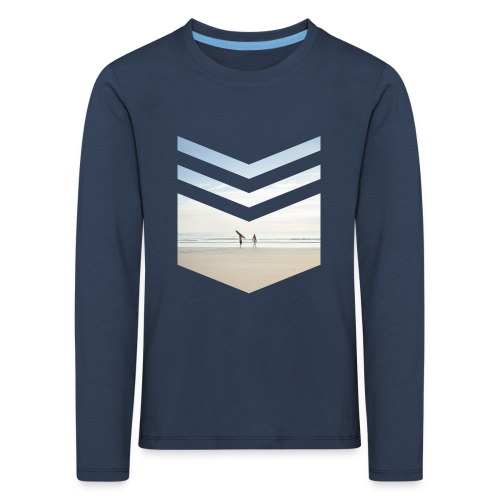 Surf Beach Triangle - Kinder Premium Langarmshirt