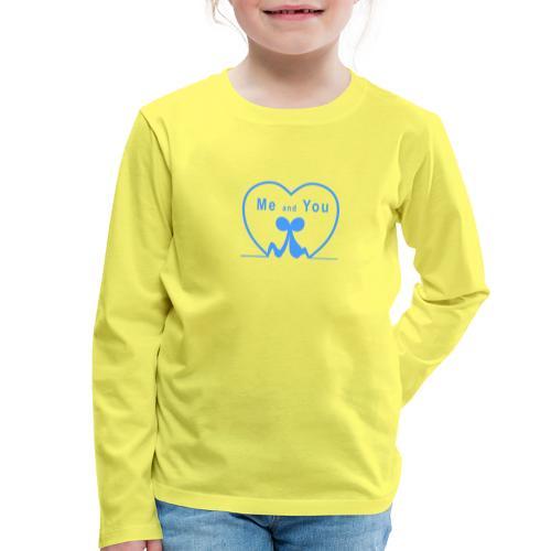 Io e te... LIGHT BLUE - Maglietta Premium a manica lunga per bambini
