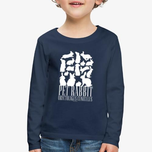 Pet Rabbit - Lasten premium pitkähihainen t-paita