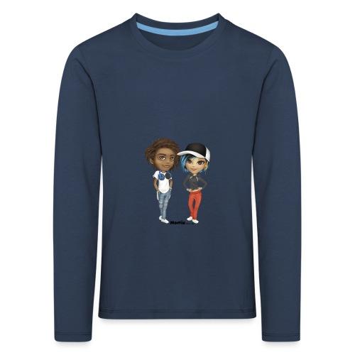 Maja ja Noa - Lasten premium pitkähihainen t-paita