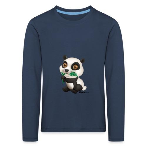 Panda - Lasten premium pitkähihainen t-paita