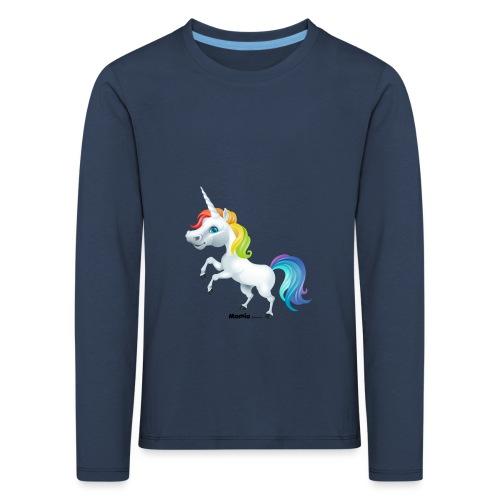 Regenbogen-Einhorn - Kinder Premium Langarmshirt