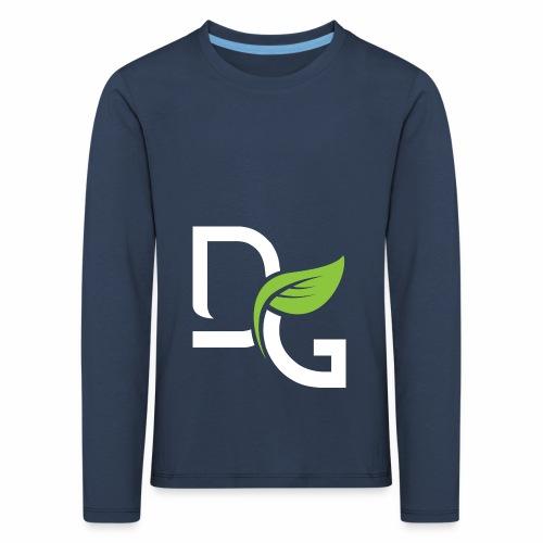 DrGreen Logo Symbol weiss grün - Kinder Premium Langarmshirt