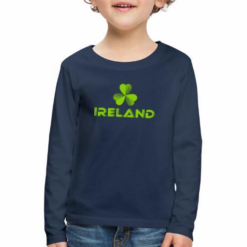 Supporting Ireland Shamrock - Kids' Premium Longsleeve Shirt