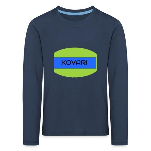 Kovari Logo - Lasten premium pitkähihainen t-paita
