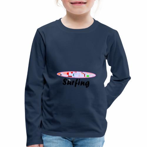 Surfing - Kinder Premium Langarmshirt