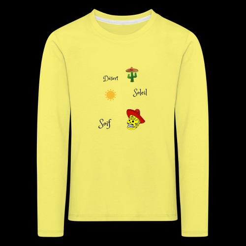 Désert,soleil,soif. - T-shirt manches longues Premium Enfant