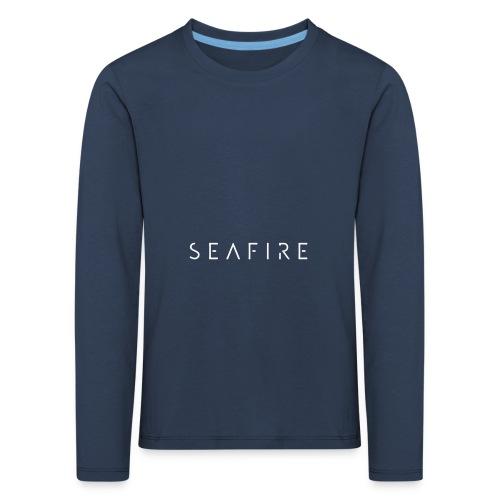 Seafire logo WHITE - Kinderen Premium shirt met lange mouwen