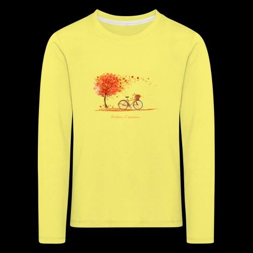 couleurs d'automne - T-shirt manches longues Premium Enfant