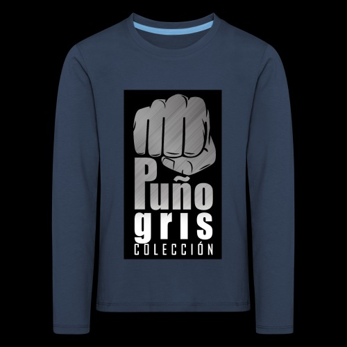 colección puño gris. - Camiseta de manga larga premium niño