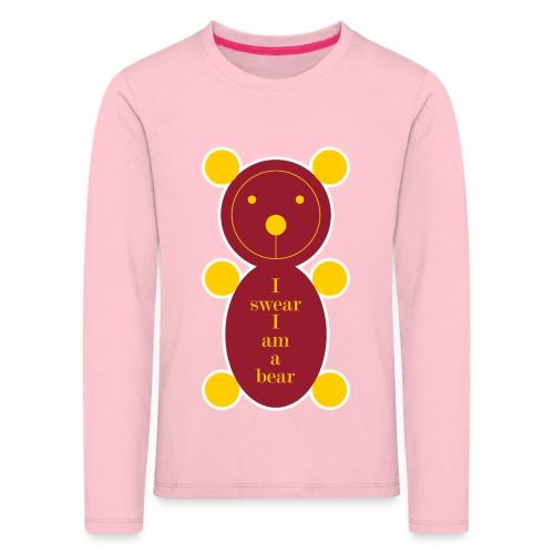I swear I am a bear 001 - Kinderen Premium shirt met lange mouwen
