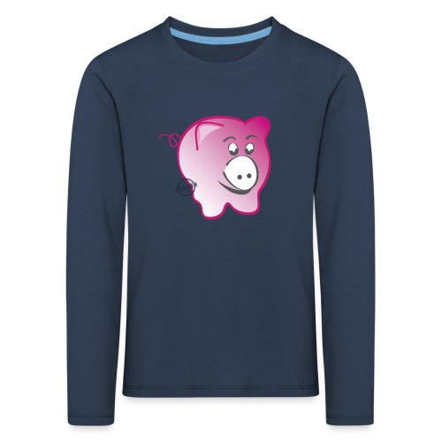 Pig - Symbols of Happiness - Kids' Premium Longsleeve Shirt