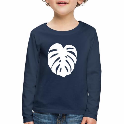 Monstera - Feuille blanche - Kids' Premium Longsleeve Shirt