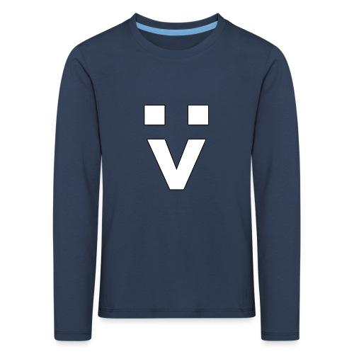 :> Smiley - Kinder Premium Langarmshirt