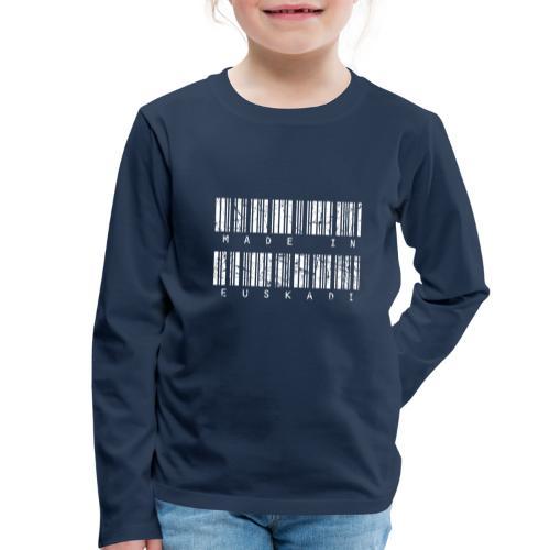 Made in Euskadi White Grunge - Camiseta de manga larga premium niño