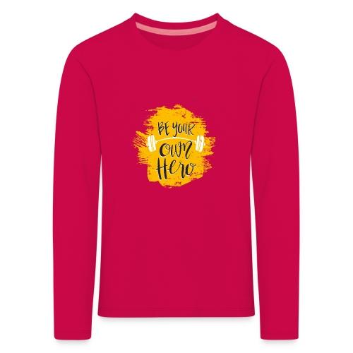 GYM Hero - Lasten premium pitkähihainen t-paita