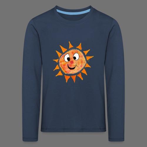 Aurinko - Lasten premium pitkähihainen t-paita