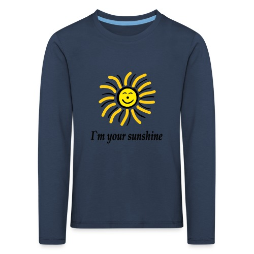 2i m youre sunshine Gelb Top - Kinder Premium Langarmshirt