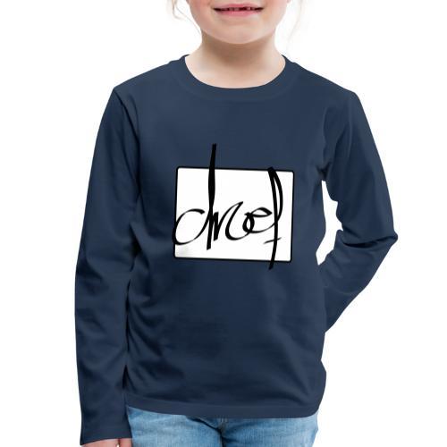 Droef.Gent logo zwart - Kinderen Premium shirt met lange mouwen