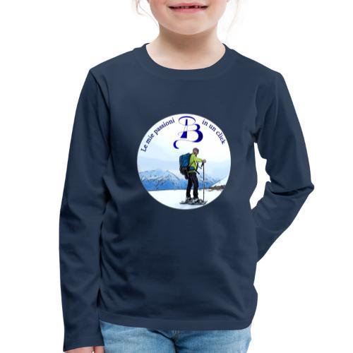 Logo cartone ciaspole - Maglietta Premium a manica lunga per bambini