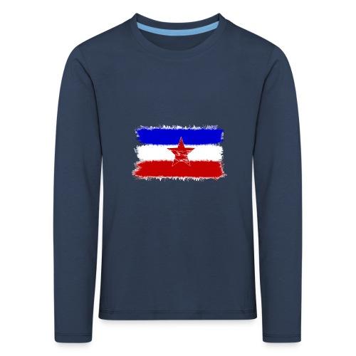 Jugo Flagge 1 Handy png - Kinder Premium Langarmshirt