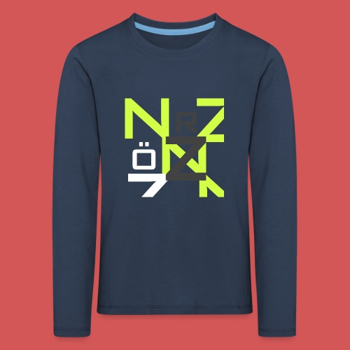 Nörthstat Group™ Clear Transparent Main Logo - Kids' Premium Longsleeve Shirt