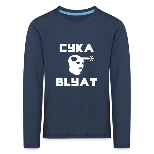 CYKA_BLYAT-png - Kids' Premium Longsleeve Shirt