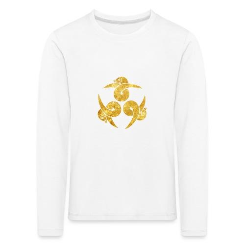 Three Geese Japanese Kamon in gold - Kids' Premium Longsleeve Shirt