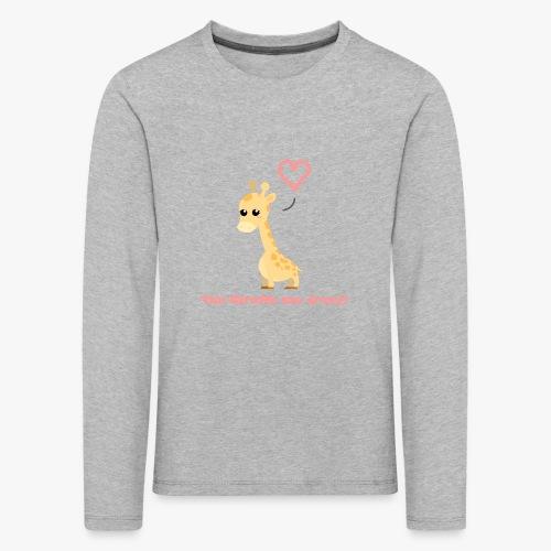 Giraffe Me Crazy - Børne premium T-shirt med lange ærmer