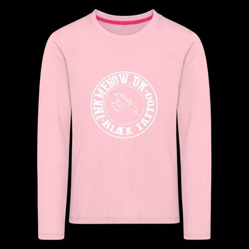 logo hvid png - Børne premium T-shirt med lange ærmer