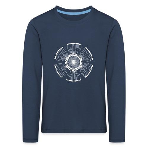 White Poppy Seed Mandala II - Kids' Premium Longsleeve Shirt