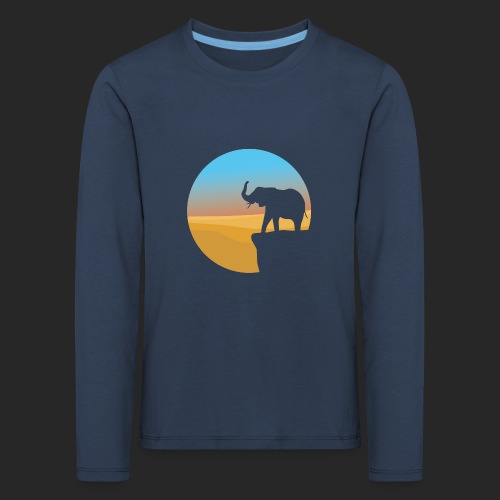 Sunset Elephant - Kids' Premium Longsleeve Shirt