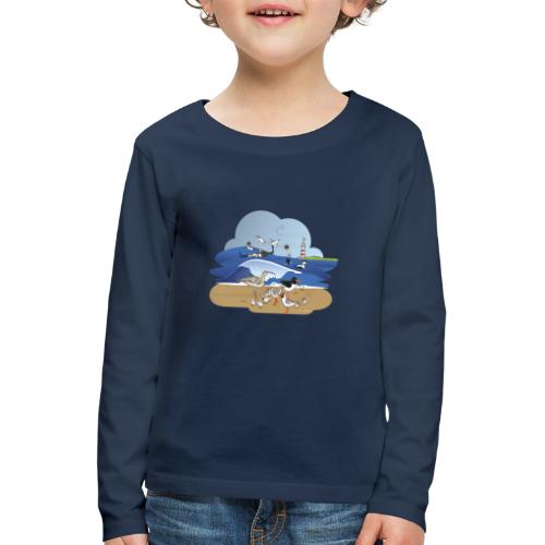 See... birds on the shore - Kids' Premium Longsleeve Shirt