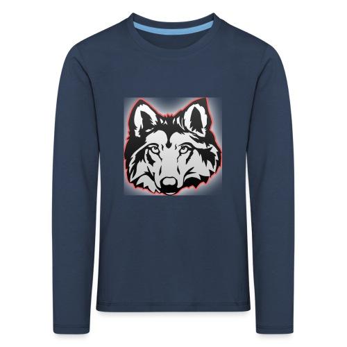 Wolfie (Red) - Kids' Premium Longsleeve Shirt