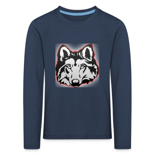 Wolfie (Red) - Kids' Premium Longsleeve Shirt
