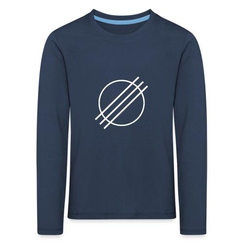 DJ Øyvind Offisiell Logo (hvit) - Premium langermet T-skjorte for barn