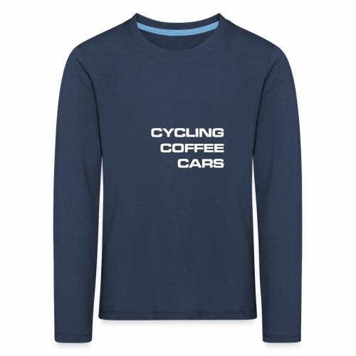 Cycling Cars & Coffee - Kids' Premium Longsleeve Shirt
