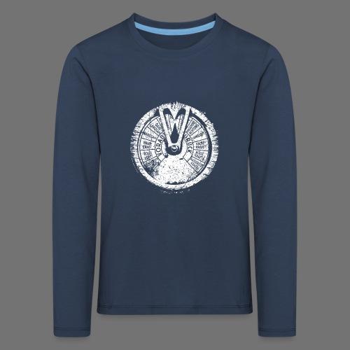 Maschinentelegraph (hvid oldstyle) - Børne premium T-shirt med lange ærmer