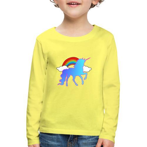Einhorn Design - Kinder Premium Langarmshirt