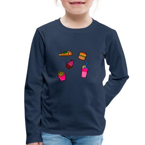 Fast Food Design - Kinder Premium Langarmshirt