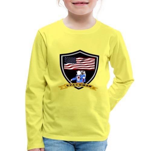 Spaceman Design - Kinder Premium Langarmshirt
