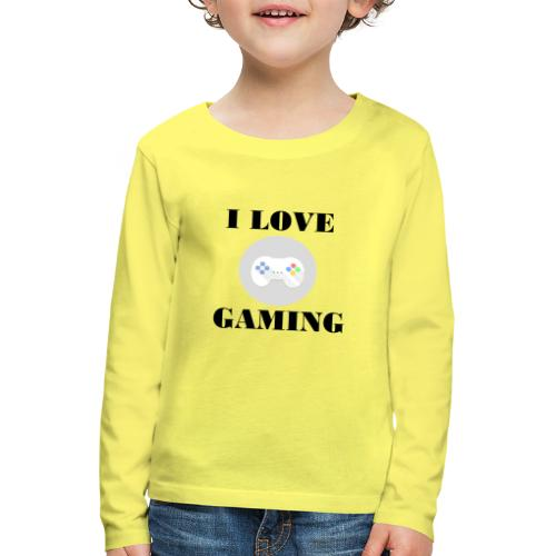 I love Gaming Design - Kinder Premium Langarmshirt