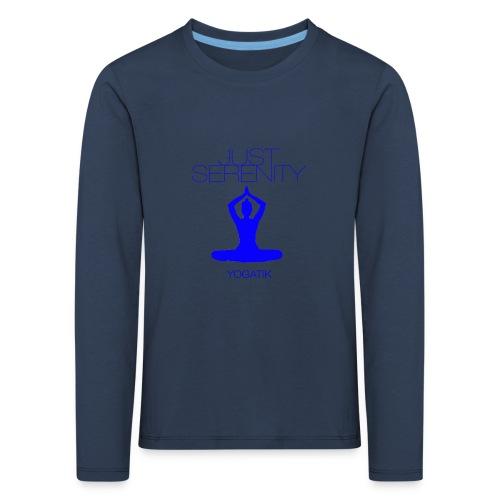 yogatyk blue - T-shirt manches longues Premium Enfant