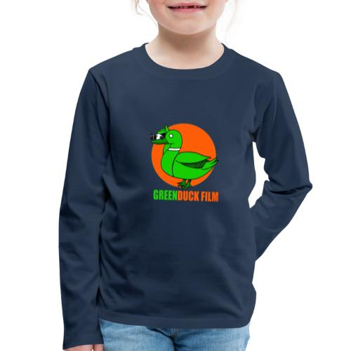 Greenduck Film Orange Sun Logo - Børne premium T-shirt med lange ærmer