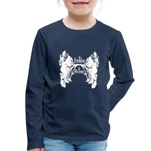 Oxygène blanc - T-shirt manches longues Premium Enfant