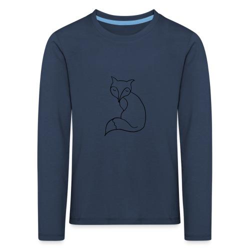 cute fox - Kinder Premium Langarmshirt